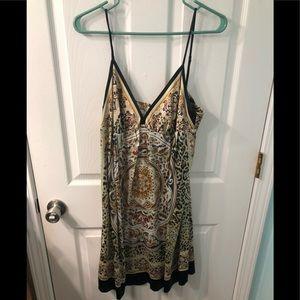Really pretty silk dress, fall like colors